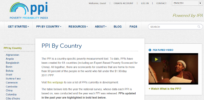 Poverty Probability Index (PPI)